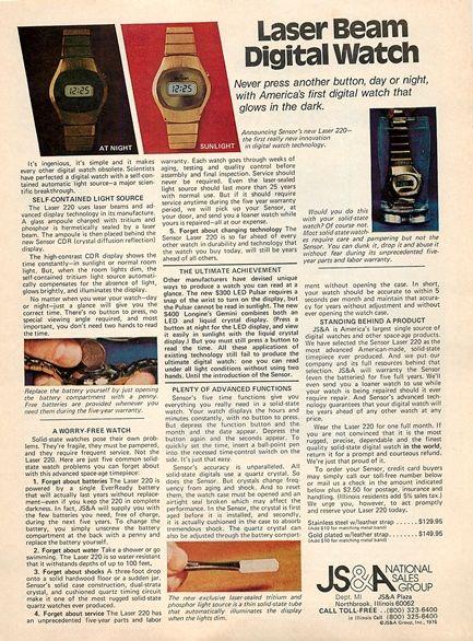 anuncio de venta sugarman reloj digital